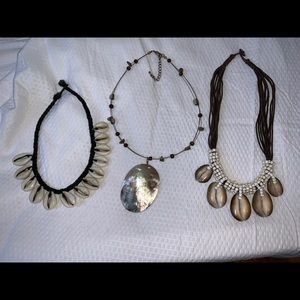 Jewelry - 3 shell necklace bundle